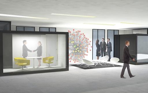 הדמיית קוביות משרדית
